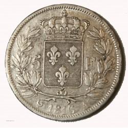 LOUIS XVIII - écu 5 Francs 1816A PARIS TTB