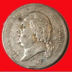 LOUIS XVIII - écu 5 Francs 1816 L BAYONNE TB+