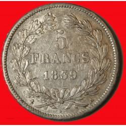 Louis Philippe Ier - écu 5 Francs 1839 A Paris