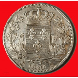 CHARLES X - écu 5 Francs 1830 A PARIS TTB+ (TC)