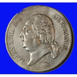 LOUIS XVIII - écu 5 Francs 1821 W LILLE TB+