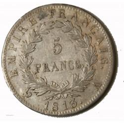 Ecu Napoléon Ier - 5 Francs 1813 A TTB