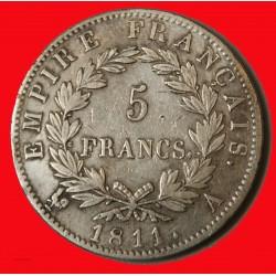Ecu Napoléon Ier - 5 Francs 1811 A TTB