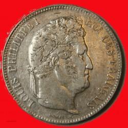 Louis Philippe Ier - écu 5 Francs 1833 W LILLE