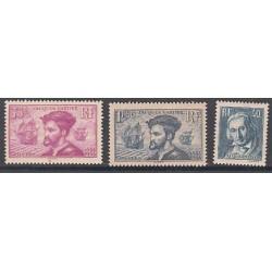 TIMBRES ANNEE 1934 N°295 à N°297 NEUFS** COTE 306 Euros L'art des Gents
