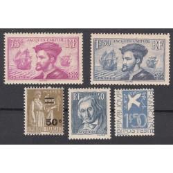 TIMBRES ANNEE COMPLETE 1934 N°294 à N°298 NEUFS COTE 150.60 Euros L'art des Gents