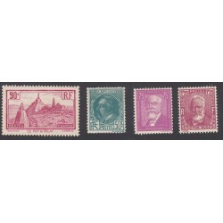 TIMBRES ANNEE COMPLETE 1933 N°290 à N°29
