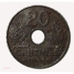 ETAT FRANCAIS - 20  centimes 1944 fer