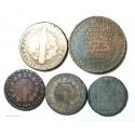 Lot de sol, 2 sols,12 deniers et monneron de Louis XVI