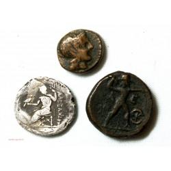 lot de 3 monnaies Grecque antique