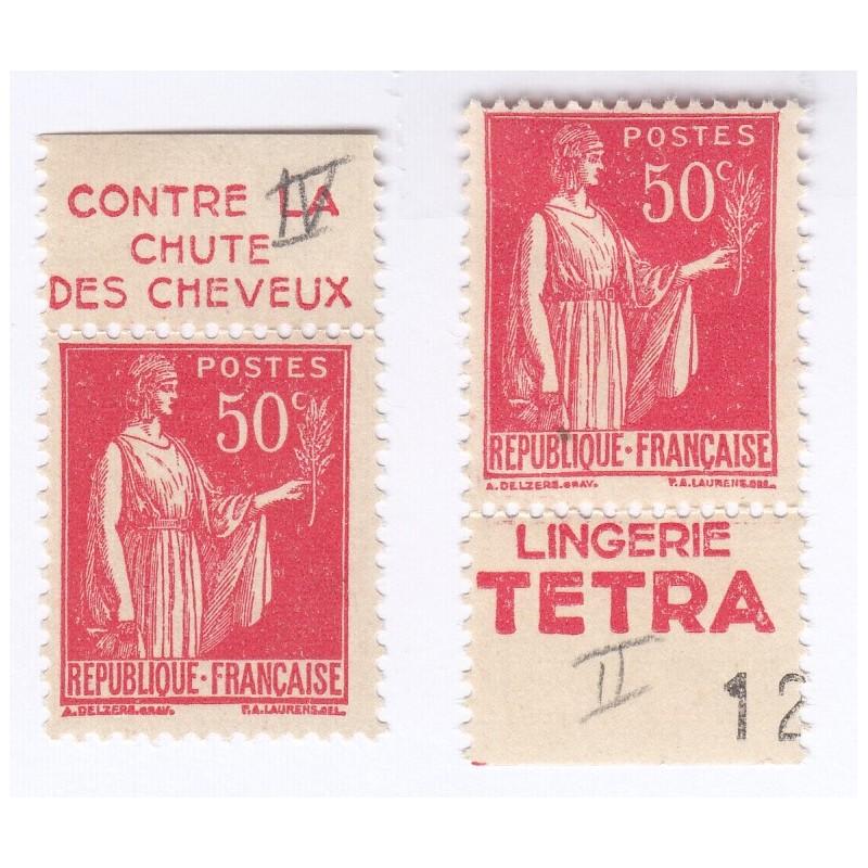 TIMBRES N° 283 Année 1932 Avec Bande Publicitaire