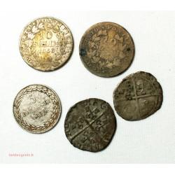 ETATS PONTIFICAUX et Avignon- petit lot de 5 monnaies