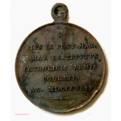 Médaille états pontificaux  Pie IX 1849