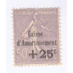TIMBRE N°276 Caisse Amortissement 1931 Regommé COTE 110 Euros l'art des gents