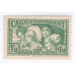 TIMBRE N° 269 Caisse Amortissement ANNEE 1931NEUF** SIGNE COIN DE FEUILLE Côte 350 Euros