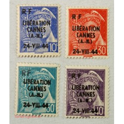 """LOT DE TIMBRES """"Emission de la libération"""" 1944 Gap, Nice, Lyon... NEUFS"""