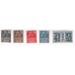 TIMBRES EXPO PARIS N°270 à N°274 1931 NEUFS COTE 66  Euros L'art des gents