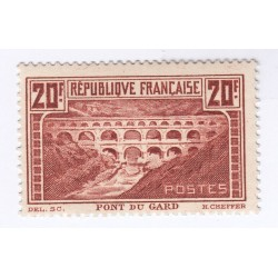 TIMBRE N°262 PONT DU GARD  NEUF    Côte 325 Euros  L'ART DES GENTS