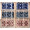Lot de 3 carnets publicitaire ancien de timbres à voir