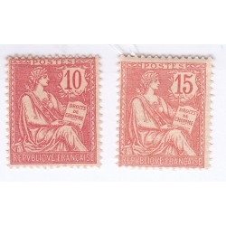 TIMBRES TYPE MOUCHON N° 124 et 125 ANNEE 1902  NEUFS Cote 62 Euros