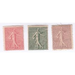 TIMBRE TYPE SEMEUSE N° 129 à 131 ANNEE 1903  NEUFS Cote 88 Euros