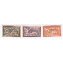 3 TIMBRES TYPE MERSON N°143 à 145 Année 1907 NEUFS  Côte 91 Euros