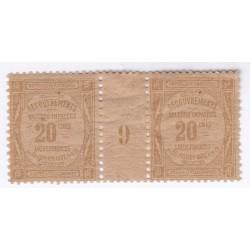 MILLESIMES - TIMBRES-TAXE N°49 Année 1909 NEUF Signé L'art des gents