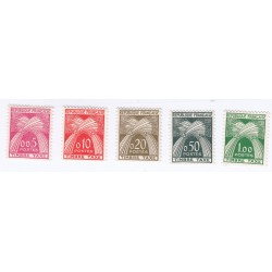 TIMBRES TAXE N° 90 au N° 94 ANNEE 1960 NEUFS** Côte 70 Euros L'ART DES GENTS