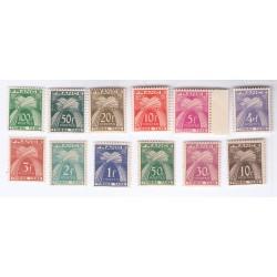 TIMBRES TAXE N° 78 au N° 89 ANNEE 1946-55 NEUFS**  Côte 140 Euros L'ART DES GENTS