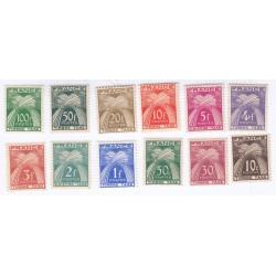 TIMBRES TAXE N° 78 au N° 89 ANNEE 1946-55 NEUFS  Cote 80 Euros L'ART DES GENTS