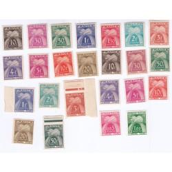 TIMBRES TAXE TYPE GERBES N° 67 au N° 94 ANNEE 1946-55 NEUFS  Cote 129 Euros L'ART DES GENTS