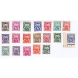 TIMBRE TYPE GERBES N° 67 à 88 TAXE u N° 88 + 90 et 94 ANNEE 1943-1955 NEUFS** Cote 82 Euros L'ART DES GENTS