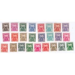 TIMBRES TAXE TYPE GERBES N° 67 à 94 manque 79 à 83 ANNEE 1943-1960 NEUFS  Cote 100 Euros L'ART DES GENTS