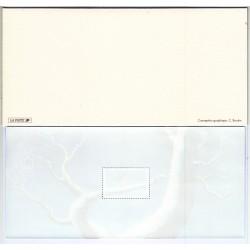 BLOC SOUVENIR N° 1  MEILLEURS VOEUX ROUGE GORGE 22 euros L'ART DES GENTS