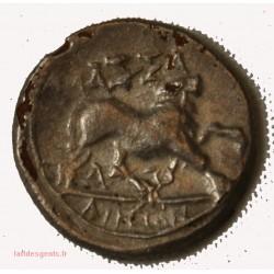 GAULOISE - drachme de Marseille tête à droite (fourrée)