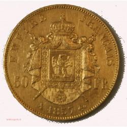Ecu Napoléon III - 50 Francs OR 1857 A