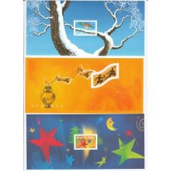 BLOCS SOUVENIRS N° 1 à 3 rouge gorge - C OTE 130 Euros - L'ART DES GENTS
