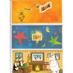 BLOCS SOUVENIRS N° 2 - 3 et 5  - COTE 70 Euros - L'ART DES GENTS