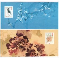 LOT de 4 BLOCS SOUVENIRS NOUVEL AN CHINOIS NEUFS** - COTE 41 Euros - L'ART DES GENTS