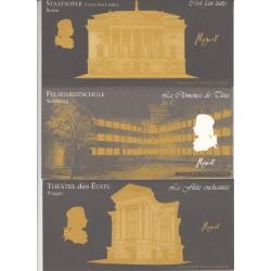 BLOCS SOUVENIRS PERSONNAGES CELEBRES MOZART N°7 à N°12 NEUFS** COTE 48 Euros - L'ART DES GENTS
