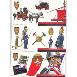 BLOCS SOUVENIRS SAPEURS POMPIERS N°59 à N°64  ANNEE 2011  NEUFS**  COTE 90 Euros - L'ART DES GENTS