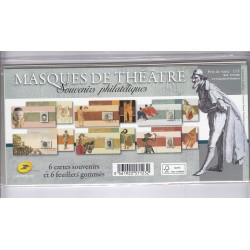 BLOCS SOUVENIRS MASQUES DE THEATRES N°83 à N°88 ANNEE 2013 NEUFS**  COTE 90 Euros - L'ART DES GENTS