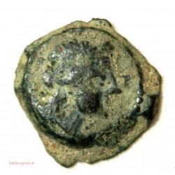 GAULOISE - Petit bronze au taureau palme à l'exergue