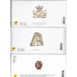 LOT SOUVENIRS PHILATELIQUES les grandes heures de l'histoireN°127 N°136  N°142 Cote 68 Euros L'ART DES GENTS