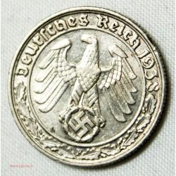 ALLEMAGNE - 50 PFENNIF 1938 F Rare