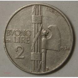 ITALIE - 2 Lire 1924 Vittorio Emanuel III