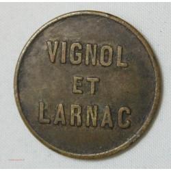 Jeton - Vignol et Larnac  80 C. (19. CORREZE)
