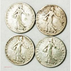 MODERNE - 50 centimes Semeuse 1903, 1905, 1907, 1911. l' art des gents