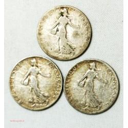 MODERNE - 50 centimes Semeuse 1903, 1908 ET 1910. l' art des gents