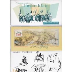 LOT 3 BLOCS SOUVENIRS N°157 - 158 - 159 - 2019 NEUFS** sous blister - L'ART DES GENTS